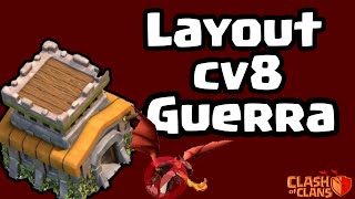 getlinkyoutube.com-Melhor layout de guerra CV8 | Best war layout TH8 - Clash Of Clans