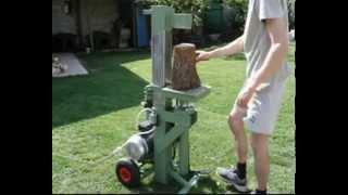 getlinkyoutube.com-Spaccalegna autocostruito - Home made log splitter