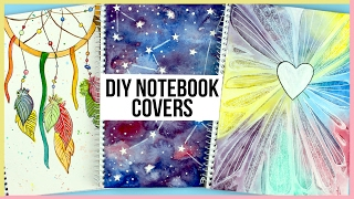 getlinkyoutube.com-DIY Notebooks For Back To School | How To Paint A Watercolor Galaxy, Dreamcatcher & More