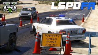 getlinkyoutube.com-GTA V - LSPDFR #10 : Blitz policial no interior / DUI Checkpoint