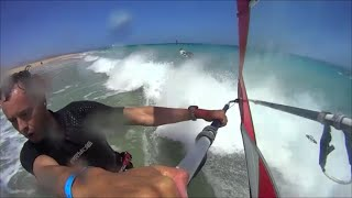 getlinkyoutube.com-windsurfing Fuerteventura 2014Club Mistral-sotavento Rider: Ronald Stout-gopro