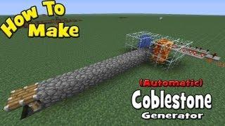 getlinkyoutube.com-How to Make a (Automatic) Cobblestone Generator (My Design/ Tutorial)