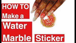 getlinkyoutube.com-NAIL HACK | WATER MARBLE NAIL ART STICKERS | Dearnatural62
