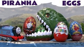 getlinkyoutube.com-Kids Kinder Surprise Egg Thomas The Train Surprise Toys Spider-Man Thomas And Friends Eggs and
