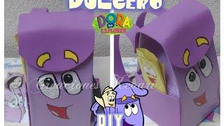 getlinkyoutube.com-Dulcero de Mochila de Dora La exploradora Material reciclado DIY Tutorial