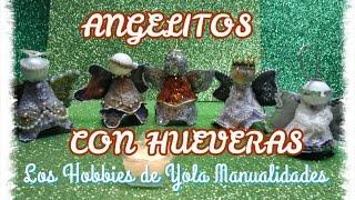 getlinkyoutube.com-DIY Angelitos con carton de huevos-hueveras.Los hobbies de Yola