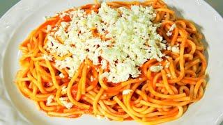 getlinkyoutube.com-Como hacer Espagueti - Spaguetti Rojo - Receta Facil y Rapida | Cocina Blog