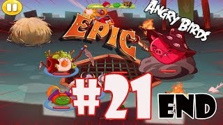 getlinkyoutube.com-Angry Birds Epic: Part 21 [The End] Story Mode-Final Boss Fight (Magic Shield 4, 5, & Wiz Pig's)