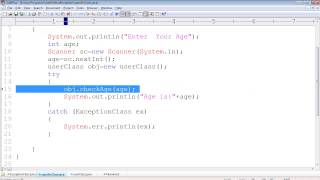 getlinkyoutube.com-Java Programming Tutorials  41 - Throw and Throws Keyword