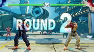 getlinkyoutube.com-SFV: Air (Blue Ryu) vs Friend (White Ryu) First replay