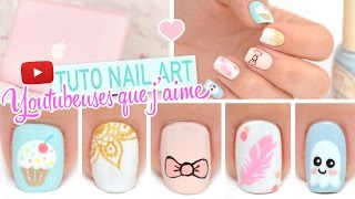 getlinkyoutube.com-Nail art ♡ Inspiration Youtubeuses que j'aime