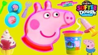 getlinkyoutube.com-TOYSBR Softee Dough Peppa Pig Mold N Play 3D Giant Head | Faça a Cabeça da Peppa Pig com Play-Doh