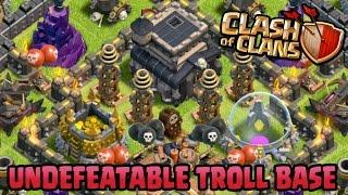 getlinkyoutube.com-Clash of Clans - UNDEFEATABLE TOWN HALL 9 TROLL BASE!