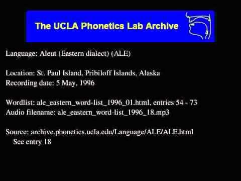 Aleut audio: ale_eastern_word-list_1996_18