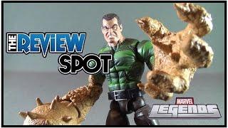 getlinkyoutube.com-Toy Spot - Hasbro Marvel Legends Sandman Wave BAF Sandman Figure