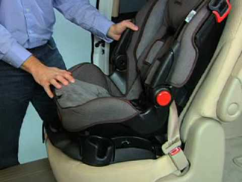 how to install Safety 1st car seat with seat belt