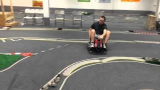getlinkyoutube.com-Crazy cart drift cart on RC Drift track
