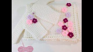 getlinkyoutube.com-كروشه بطانية بيبي - Crochet Baby Blanket