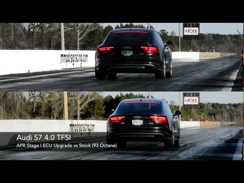 Audi S7 4.0 TFSI Quarter Mile - APR Stage I vs Stock