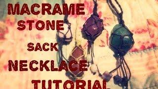 getlinkyoutube.com-How to make a macrame stone sack/ pouch pendant tutorial