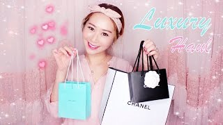 CHANEL MAKEUP HAUL + UNBOXING CHANEL & TIFFANY JEWELRY ♥