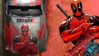 getlinkyoutube.com-Need for Speed 2015 Speed painting Deadpool vinyl