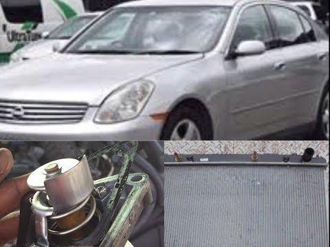 V35 Nissan Skyline radiator change and thermostat modification