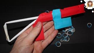 getlinkyoutube.com-Paper Gun that Shoots 9 Rubber Bands - (Paper Shotgun)