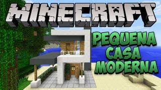 getlinkyoutube.com-Minecraft: Construindo uma pequena Casa Moderna