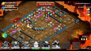getlinkyoutube.com-Castle Clash Insane Dungeon 2-1 : 3 Flames, No Mino. Unlocking Goblet of Life