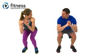 getlinkyoutube.com-Quick Sweat Cardio Burst - Fast Fat Burning Cardio Workout with Kelli & Daniel