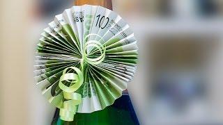 getlinkyoutube.com-Geldgeschenk Idee, Geschenkanhänger Fächer aus Geldscheinen