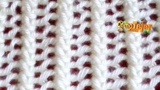 getlinkyoutube.com-Cómo Tejer Encaje Tejido-Lace Stitch  2 Agujas (18)
