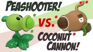 Plants vs. Zombies Peashooter VS. Coconut Cannon ball Popper Battle