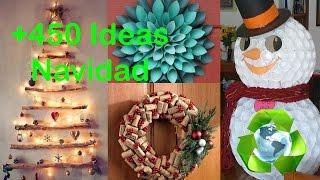 getlinkyoutube.com-Decoración-Navidad Ideas / Decor-Christmas Ideas Recycled