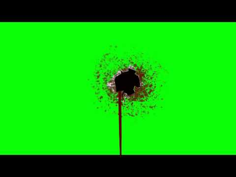 Bleeding Bullet Hole Wound - Green Screen Animation