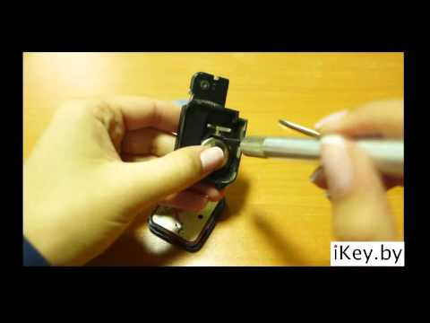 Замена батарейки в смарт ключе Ниссан change the battery