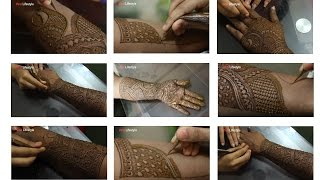 getlinkyoutube.com-Full Hand Mehndi Design Tutorial | Front And Back | Step By Step | Indian mehndi Style