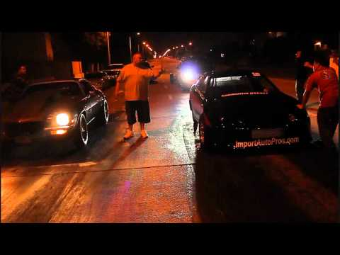 BowDown Camaro VS Breezy's Turbo Integra street racing