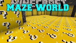 getlinkyoutube.com-Minecraft: MAZE WORLD (LUCKY BLOCK BIOME & ORESPAWN BIOME!) Mod Showcase