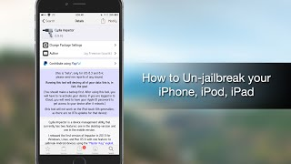 getlinkyoutube.com-How to unjailbreak your iPhone, iPad and iPod touch using Cydia Impactor