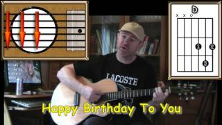 getlinkyoutube.com-Happy Birthday To You - Acoustic Guitar Lesson - (easy)