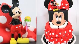 getlinkyoutube.com-Minnie Mouse Cake - How To Make by CakesStepbyStep