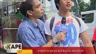 getlinkyoutube.com-KB: Panlasa ng Masa: Pabor ka ba sa bus ban sa Maynila?