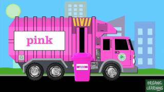 getlinkyoutube.com-Garbage Trucks Teaching Colors - Learning Basic Colours Video for Kids