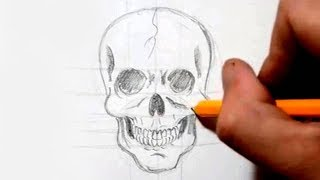 getlinkyoutube.com-How to Draw a Skull in Under 4 Minutes - Speed Drawing