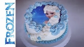 getlinkyoutube.com-Frozen Torte | Elsa die Eiskönigin Torte | Frozen Birthday Cake