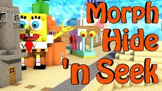 getlinkyoutube.com-Minecraft Mods | MORPH HIDE AND SEEK - SpongeBob Mod & Cartoon Mod!
