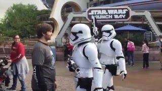 Star Wars at Disney meeting Darth Vader, Chewbacca, Boba Fett and some Storm Troopers