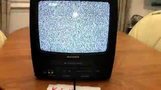 "getlinkyoutube.com-Sylvania 6313CE 13"" Portable TV/VCR Combo + Recording + Radio -- Remote Included"